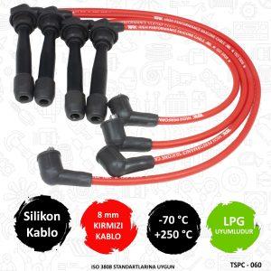 performans buji kablosu, 8mm buji kablosu, kırmızı buji kablosu, elantra performans buji kablosu,