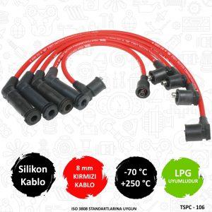 performans buji kablosu, 8mm buji kablosu, kırmızı buji kablosu, getz performans buji kablosu, hyundai getz performans buji kablosu,