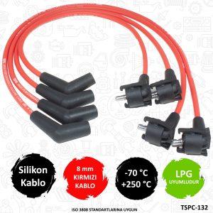 performans buji kablosu, 8mm buji kablosu, kırmızı buji kablosu, ford ka performans buji kablosu,